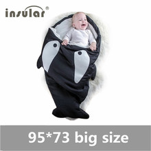 Cute Cartoon Shark Animal Baby Sleeping Bag Winter Baby Sleeping Sack Warm Baby Blanket Infant Warm Swaddle Stroller Sleepsacks