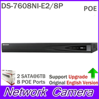 Overseas CCTV System Onvif 8ch NVR DS 7608NI E2 8P With 2 SATA And 8 POE