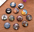 24X  12mm My neighbor totoro pattern Round  Handmade Photo Glass Cabochons & Glass Dome Cover Pendant Cameo Settings