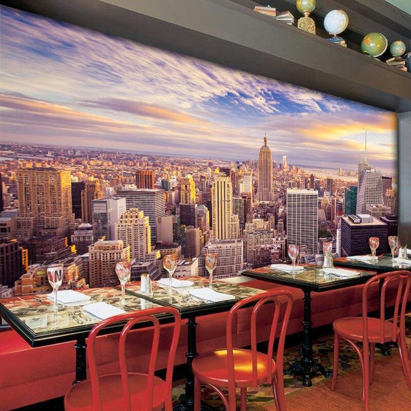 Benutzerdefinierte 3D Fototapete Home Decor New York City Living Wohnzimmer Schlafzimmer TV Hintergrund Tapete Murales Papel