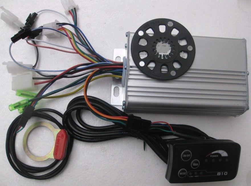 36V 500W 9Mosfets ebike Motor Controller LED meter electronic bike motor - ELifeBike store
