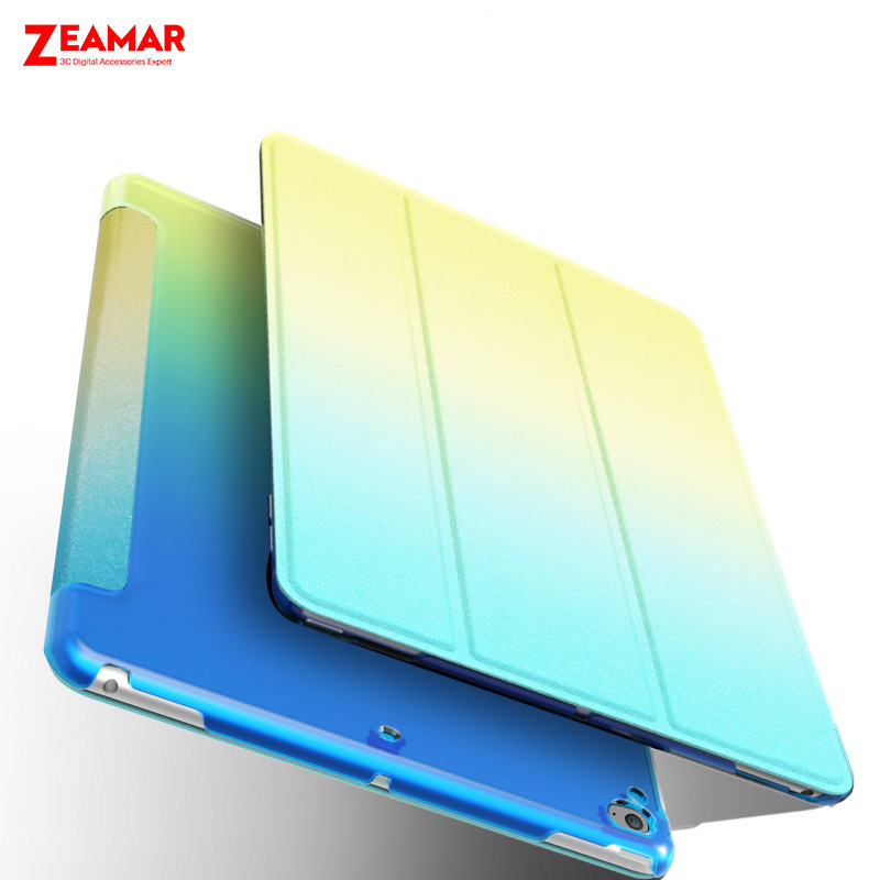 Rainbow Gradient Smart Magnetic Cover For iPad Mini 1 2 3 4 Case Leather Shockproof Hard Back Case Coque For iPad Mini 4 3 2 1