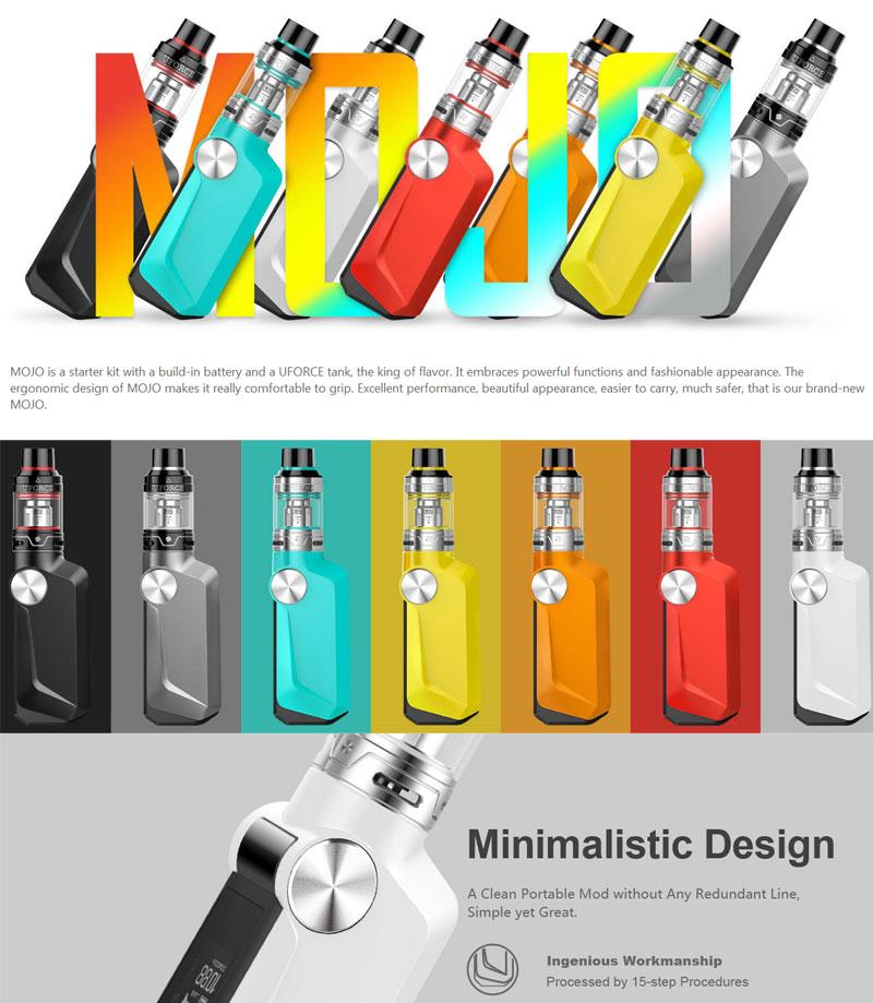 , Original Electronic Cigarette Kit Voopoo MOJO TC 88W Box Mod Kit 2600mah Build in Battery 0.01s open Support 88w Vaporizer Vape