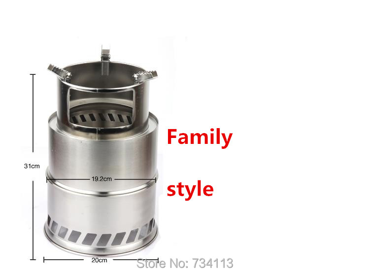 Portable Wood Alcohol Fuel Stove Stainless Steel Lightweight Solidified Stove Outdoor Hike Picnic BBQ Camping Cooking Accessory