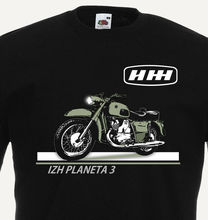 Motocykl motocykl Izh Planeta klasyczny zsrr Retro Cccp moda nowy Top Tees nowość topy z okrągłym dekoltem 80S t shirty