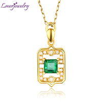 Good Quality Natural Colombia Emerald Pendant Necklace Charming Diamond Wedding Fine Jewelry Wholesale Christmas Gift For
