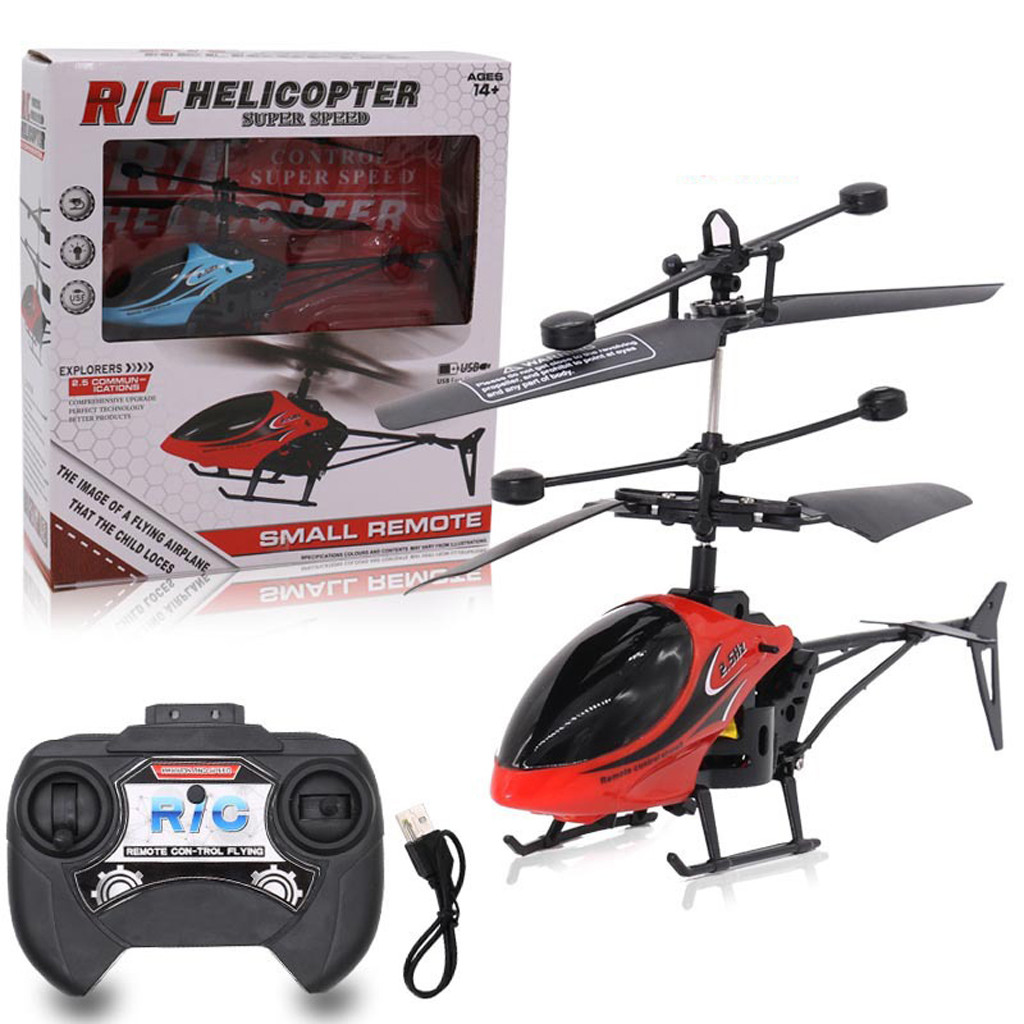 Gyro Helicopter Transmitter Rc Drone Remote-Control Rc-Infrared-Induction Mini 2CH Rc-Toy