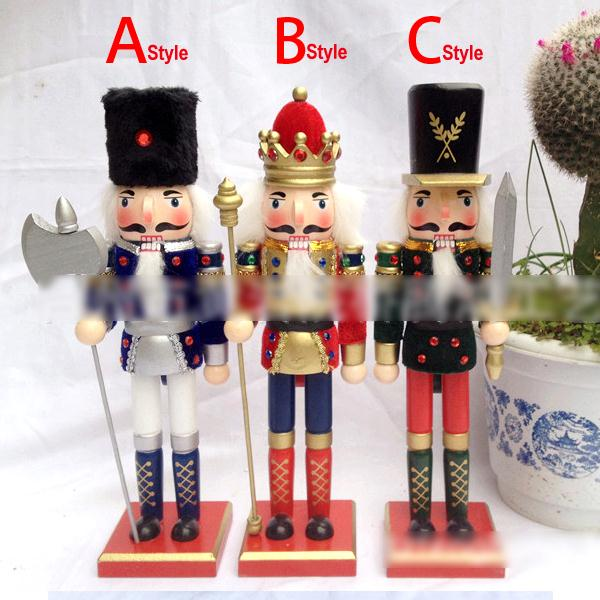 HT053 free shipping high quality new king doll puppets Toy 30CM fine painted nutcracker walnut soldiers novelty Christmas gift
