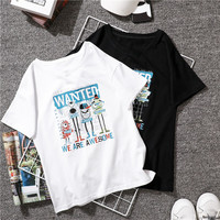 Baishanglinna Nothing Letter Print T Shirt Women 2018 New Summer Casual Short Sleeve T Shirt White