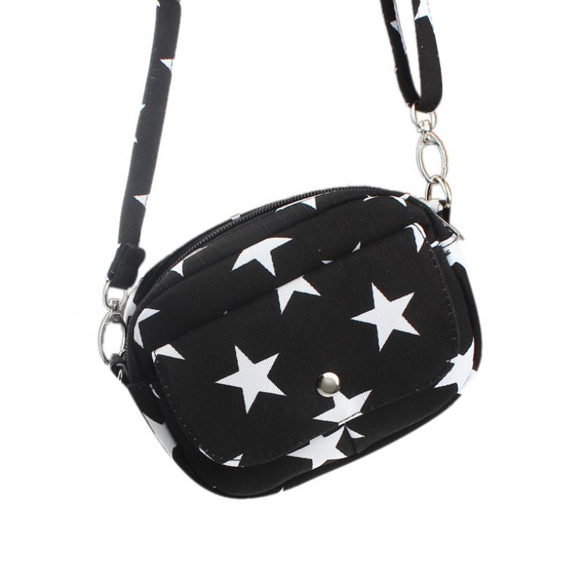 Five-Pointed Star Canvas Bags Mini Small Messenger Cross Body Handbag Shoulder Bag Purse Wholesale A2000