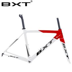 2020 nuevo cuadro de bicicleta de carretera de carbono BXT T800 Marco de bicicleta de ciclismo súper ligero 980g Di2/Marco de carretera de carbono de carreras mecánicas