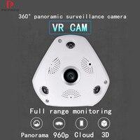 360 Camera 960P Wifi Camera 360 Degree Panoramic Camera Home Security Video Surveillance Fisheye Surveillance Camera 3D VR