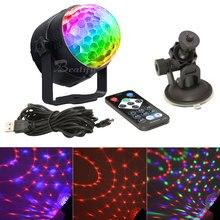 Luces de discoteca LED RGB para el hogar, Centro de música, decoración USB, iluminación de escenario, efecto Estroboscopio, luz de fiesta de sonido