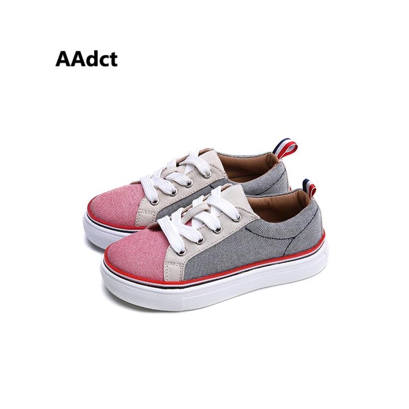 2018 새로운 브랜드 어린이 신발 패션 소녀 캔버스 신발 학생 평면 애들이 운동화 운동화 유아용 신발 아기 스포츠