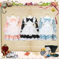 Halloween Baby Girls Alice In Wonderland Party Dress Child girls maid costume Alice Dream Kids Lolita Cosplay Costume Pink Blue