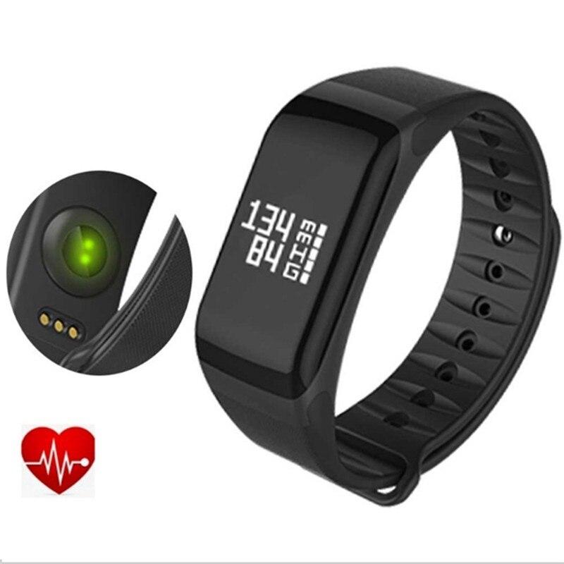 F1 Fitness Tracker Activité Montres Sang Pression Bande À Puce Pulsometro Intelligent pour La Santé Bracelet Bracelet Moniteur de Fréquence Cardiaque