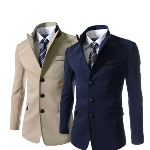 El nuevo 2014 British lana engrosamiento de lana abrigo masculino foso delgada abrigos PX42 M-XXL