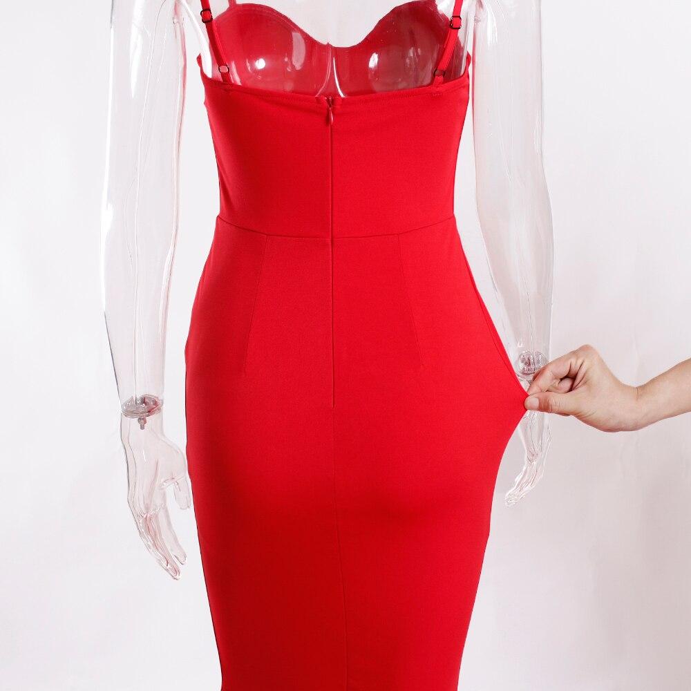 Strapless Split Front  Mermaid Sleeveless Elegant Dress 36