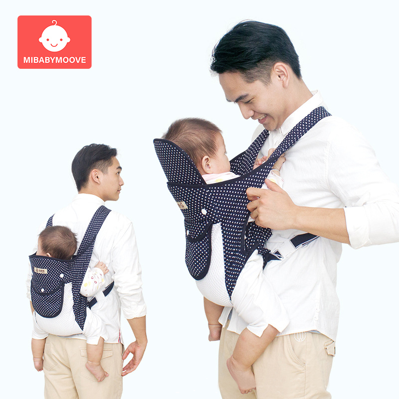 Kangaroo Baby Carrier Sling Soft Breathable Ergonomic Baby Carrier Backpack Adjustable Front Facing Newborn Wrap Sling For 0-36M