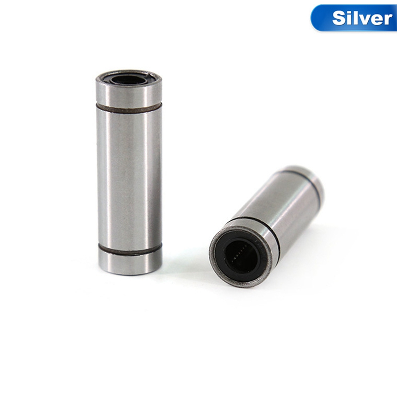 4 Pcs LM8UU Ball Bearings 8mm Bushing For CNC 3D Printers Parts Rail Linear Long Rod Shaft Part 8mm*15mm*24mm Aluminum Bush