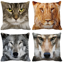 Animal head Cushion cover Cover Nordic Simple Geometric Decorative Throw Pillow Covers for Sofa Polyester Cotton