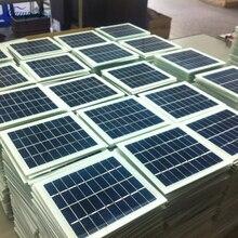 1 шт 9 в 2 Вт 135 мм* 125 мм стекло ламинированный поликристаллический кремниевый солнечный элемент, солнечная панель
