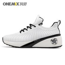 Onemix женские кроссовки увеличивающие рост Уличная обувь для женщин Фитнес легкий вес прогулки ветер вино глаз белый черный