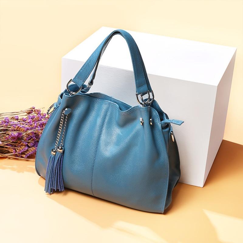 Genuine Leather Handbag Women Shoulder Bag Female Large Tote Bag Lady Crossbody Messenger Bags For Women