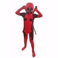 Kids Deadpool Costume Spandex Lycra Full Body Zentai Suit Superhero Costumes Bodysuit Carnival Costumes For Children