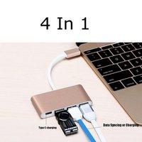 4 em 1 Tipo C Para 3 Portas USB 3.0 HUB 2.0 USB-C Multiport Conversor De Carregamento HUB Para Macbook de Transferência de Dados Para A Superfície Pró Pad
