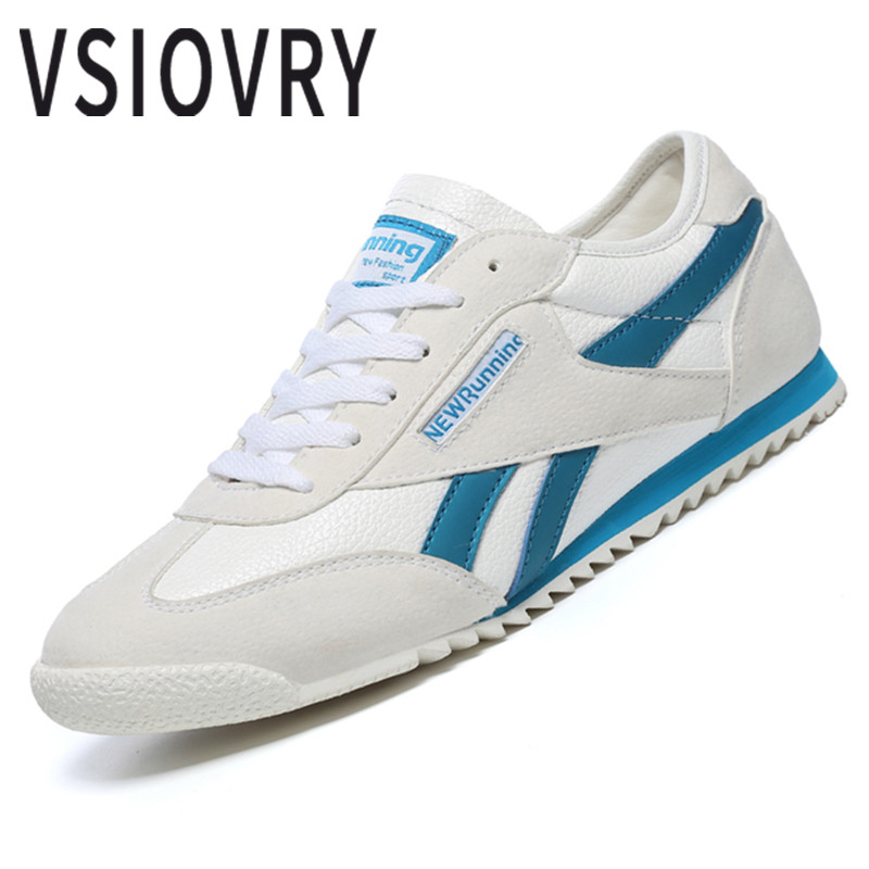 VSIOVRY 2018 Men Leather Sneakers Summer Breathable Comfortable Male Casual Shoes High Quality Trainers Unisex Sneakers Krasovki 2017 new arrival spring men casual shoes mens trainers breathable mesh shoes male hombre hip hop street shoes high quality