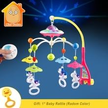 ベビーベッドのおもちゃ 0 12 ヶ月間新生児携帯オルゴールとベッドの鐘動物ガラガラ早期学習知育玩具