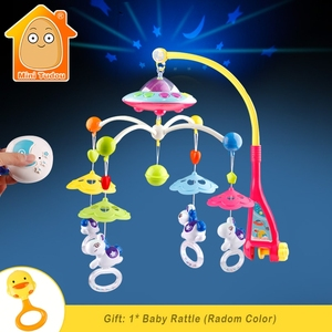Image 1 - Baby Crib Toy 0 12 Months For Newborn Mobile Musical Box Bed Bell With Animal Rattles Early Learning Kids Educational Toys