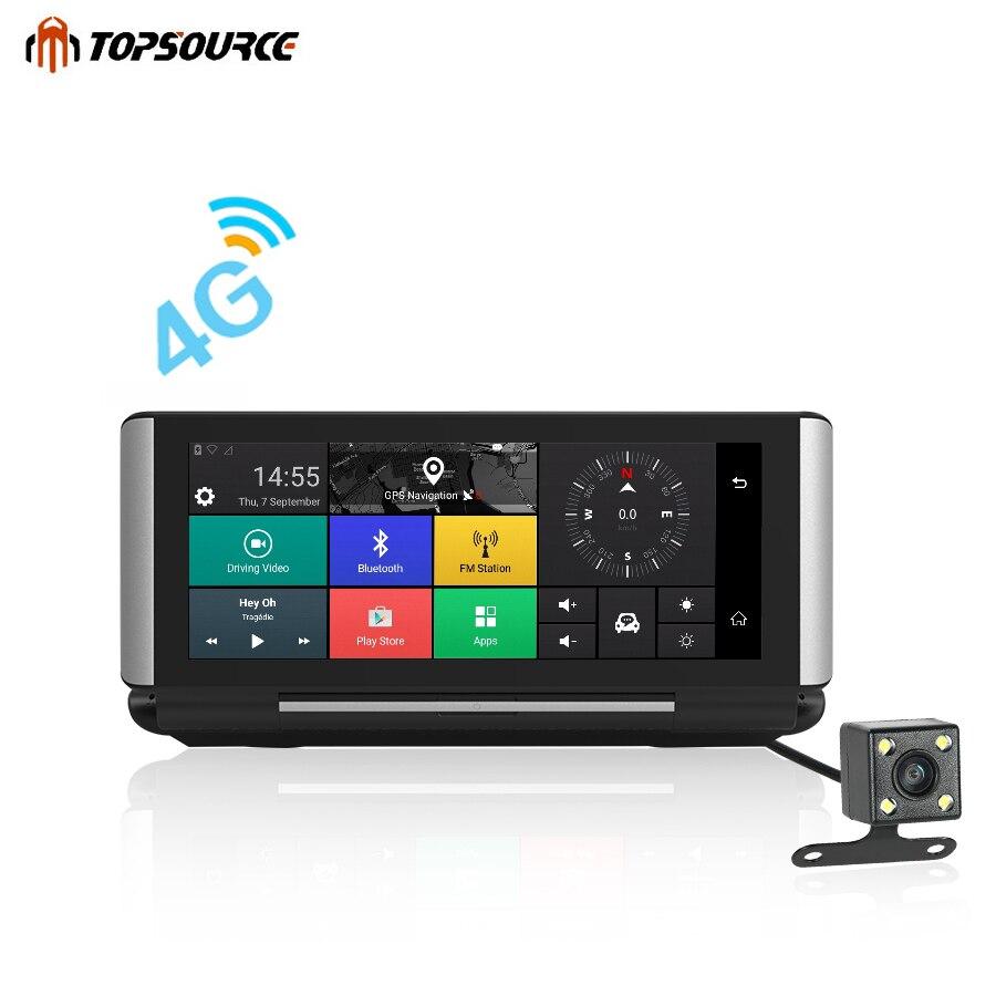 TOPSOURCE Pro Car DVR GPS 3G/4G 6.86 Android 5.0 Car Camera WIFI 1080P Video Recorder Registrar dashcam DVR Parking Monitoring цена