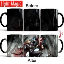 iron Man vs Thor mug 12OZ/350ml color chagning coffee mug heat reveal Heat sensitive mugs best gift for your boy friend ,husband