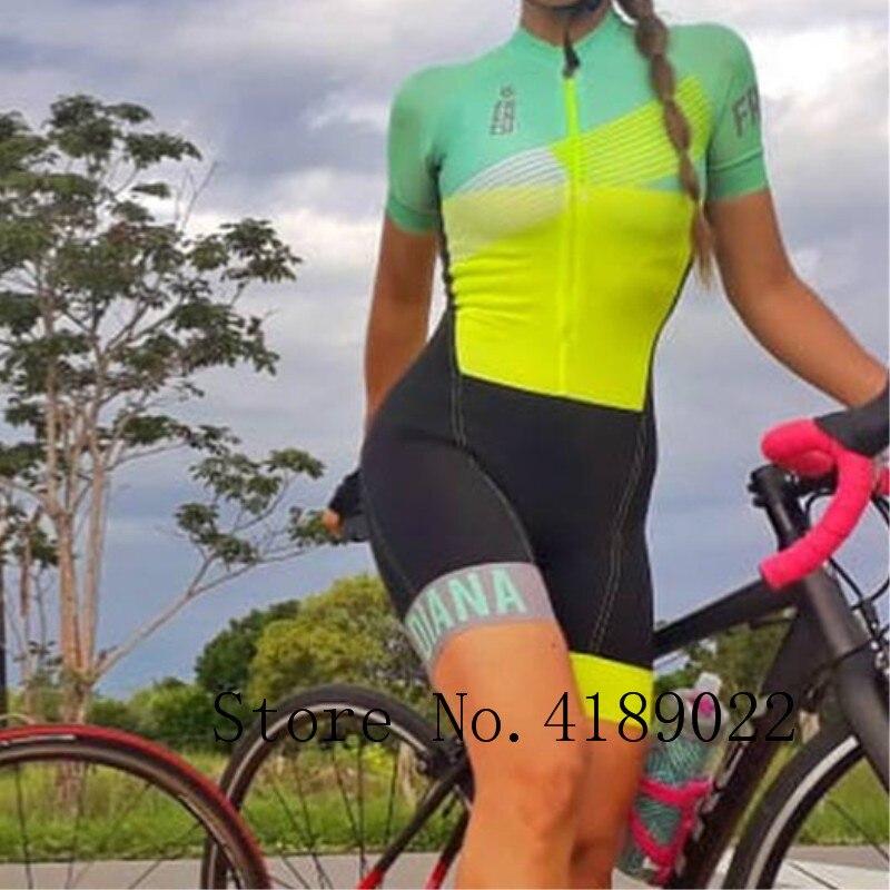 2019 Frenesi femmes Hoge kwaliteit sexy body skinsuit triathlon schaatspak rijden équipe ski costume cyclisme jersey ensemble court