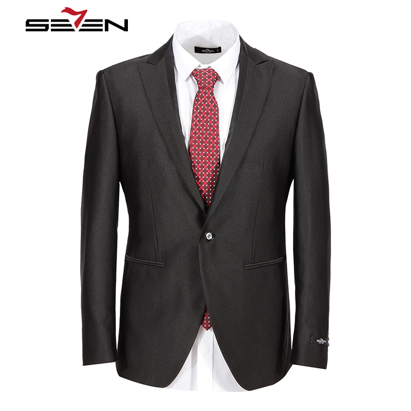 Seven7 Brand Performance Mens Tuxedo European Style Classic Prom Jacket Suits Pattern Formal