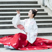 Hanfu Dance Costume Embroidery Tang Dynasty Princess Dancewear Chinese Traditional Ancient Folk Clothes Hanfu Outfit Stage Dress