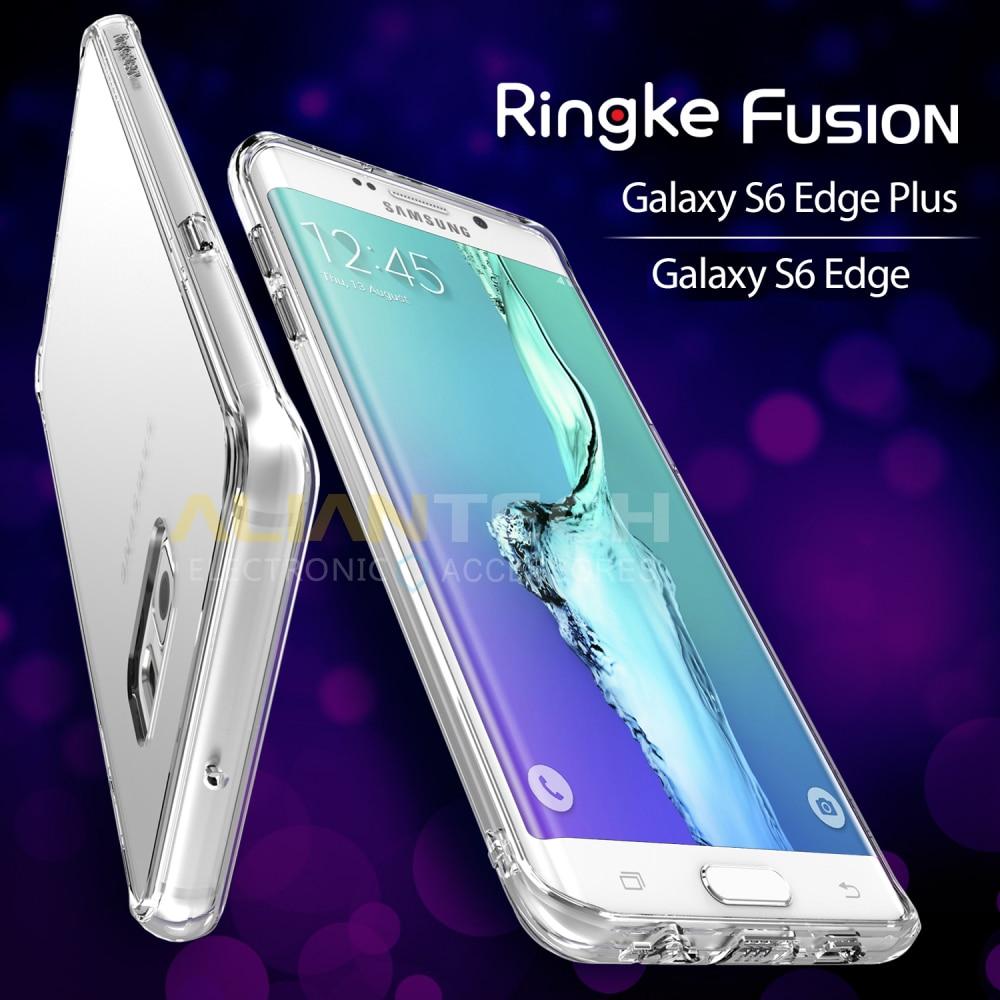 Цена за 100% Оригинал Ringke Fusion Чехол для Samsung Galaxy S6 Край/Samsung Galaxy S6 Край Плюс/S6 Край + Прозрачная Задняя Крышка случаях
