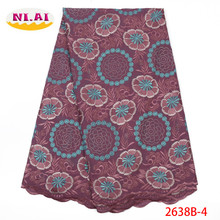 Swiss Voile Cotton Lace Fabric Popular African In Switzerland 2019 High Quality Material XY2638B-4