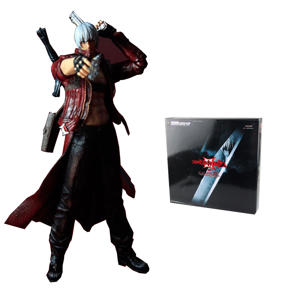 SAINTGI Devil May Cry 3 Play Arts Kai  Action Figure  Model SQUARE ENIX Dante PVC 23cm Action Figure Collectible Model Toy devil may cry 3 action figure toys playarts kai anime toy movie dante play arts kai 25cm collection model