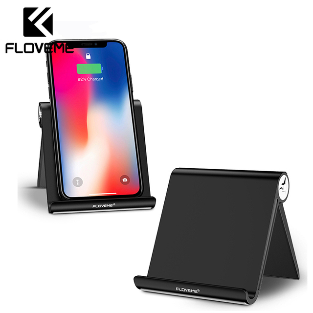 FLOVEME Phone Holder Stand For iPhone X 8 7 For iPad Universal Adjustable Foldable Mobile Phone Tablet Desk Holder Stand Mount