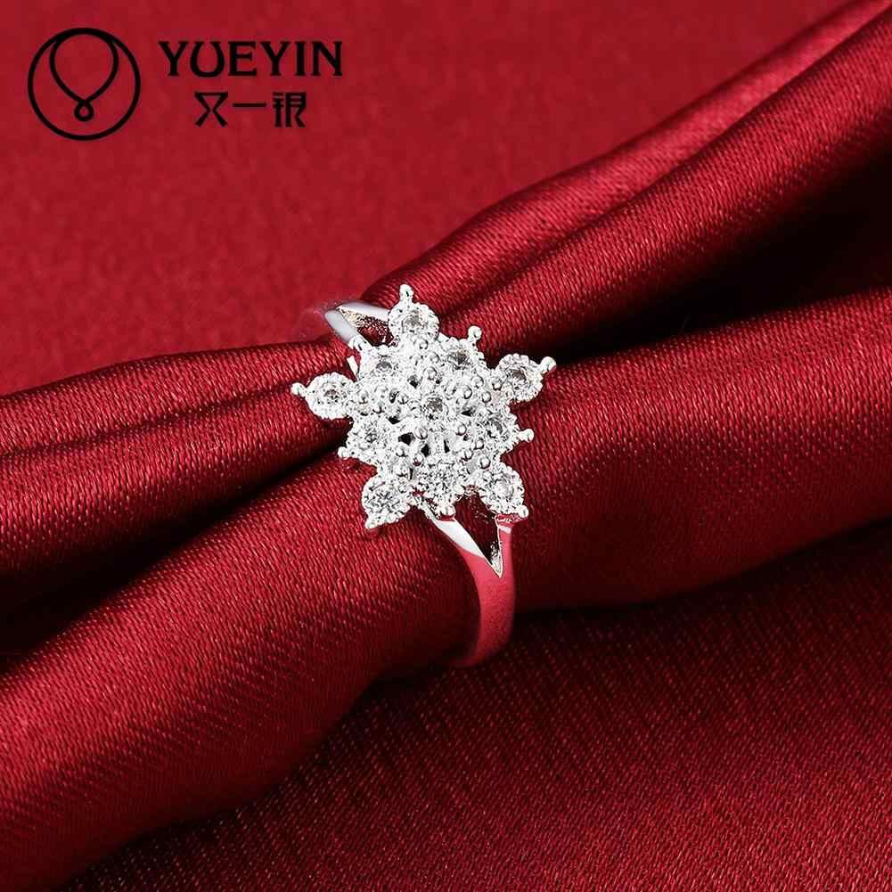 หญิงเงินงานแต่งงานแหวนแฟชั่นเครื่องประดับ bague เงินโรแมนติกคุณภาพสูงจัดส่งฟรีแหวนหญิง
