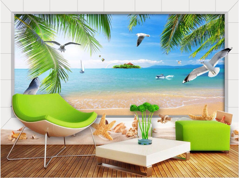 Custom Photo Mural 3d Wallpaper Hawaii Sea Scenery
