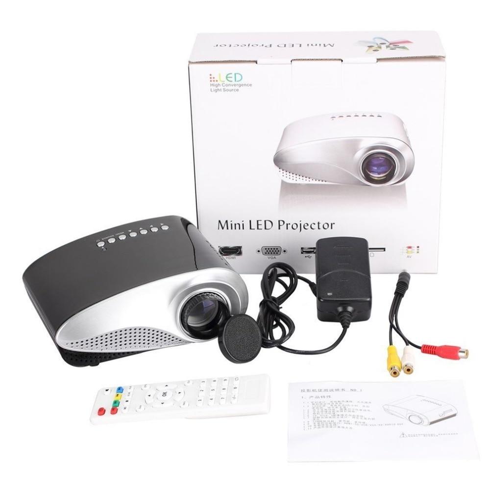 Mini proyector LED portátil de cine en casa de Video proyector Multimedia en el hogar cine TV computadoras portátiles teléfonos inteligentes RD-802 negro