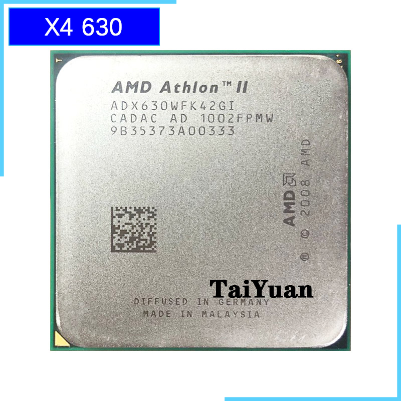 AMD Athlon II X4 630 2.8 GHz Quad-Core CPU Processor ADX630WFK42GI Socket AM3