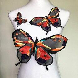 1 Set Organza coloré papillon Patch couture-sur bricolage brodé patchs Motif Applique pour vêtements sacs autocollants accessoires