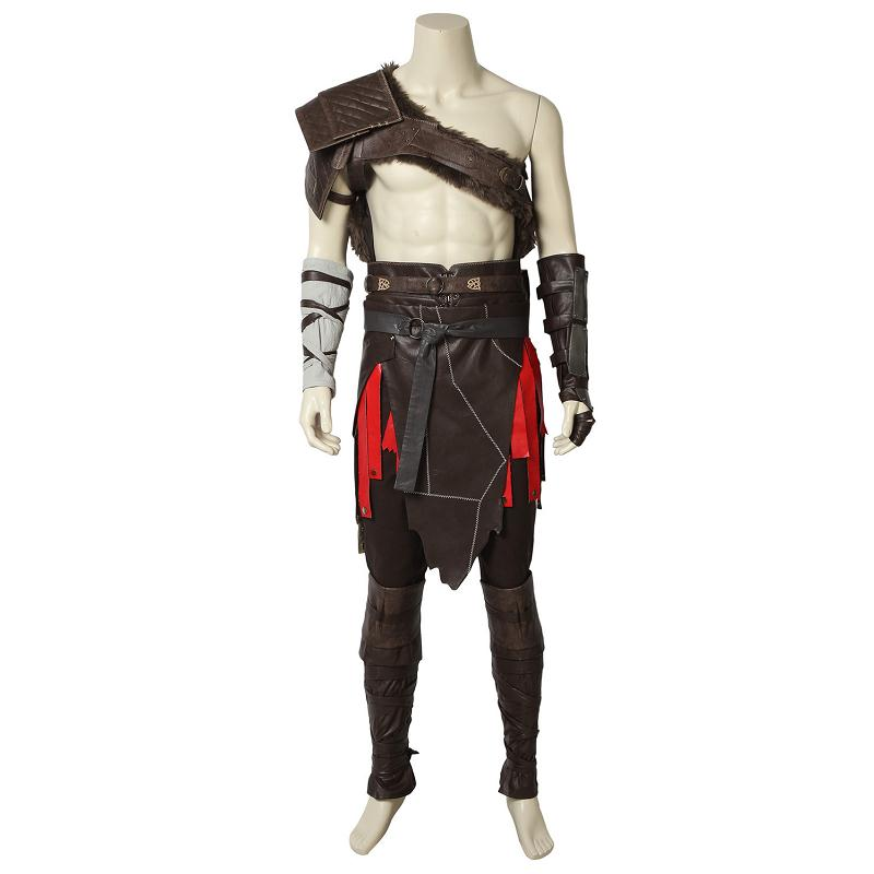 God of War 4 Cosplay Costume Kratos Nordic Costumes Spartan Battle Fancy Dress Suit Halloween Adult Men Carnival Outfit Full Set