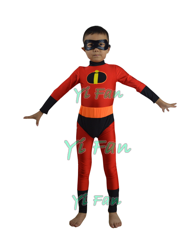 Kids The Incredibles Superhero Costume Lycra Spandex Cosplay Costume for Halloween Kids/Children