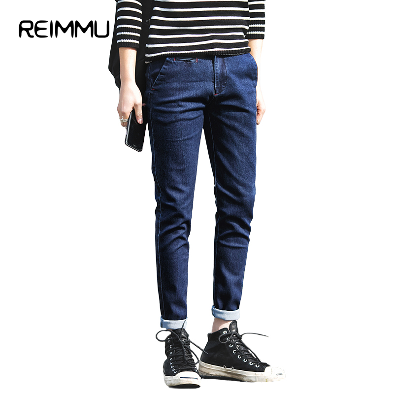 Reimmu Men Jeans Pants Hot Sale Imported Clothing High Quality Male Jeans Big Size 5XL Slim Fit Casual Pants Fashion Brand Jeans aismz new high quality jeans men casual fashion trouser slim fit ankle length scratched denim pants male brand clothing 60006